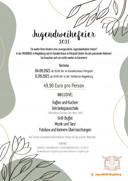 Bild Jugendweihefeier am 04.09.2021 in Pietzpuhl